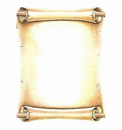 Scroll Roll Ancient Transparent Letter Clipart Parchment