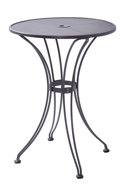 metal mesh top patio table outdoor butterfly bar table with 30 quot round steel mesh top