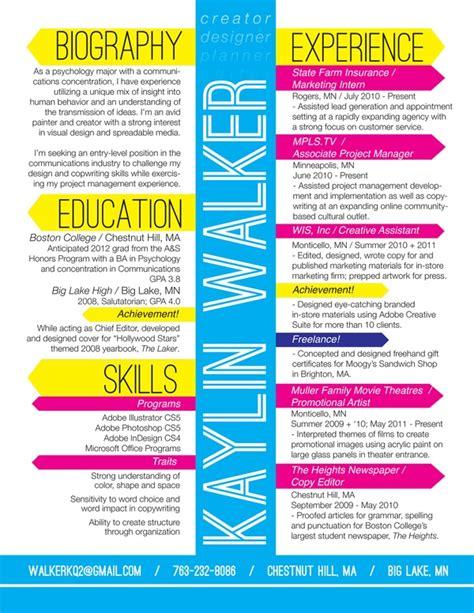 kaylin walker amazing resume design