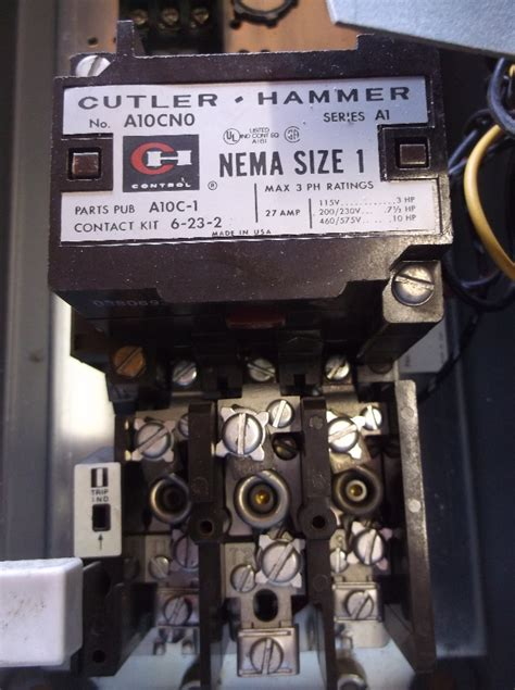 cutler hammer a30ego magnetic combination starter w motor circuit switch size 1 ebay