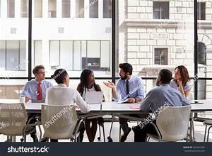 Corporate Business Team Meeting Modern Open Stock Photo ...