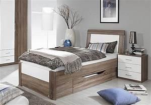 Bett Liegefläche 100x200 : bett arona futonbett in havanna eiche und wei hochglanz mit schubkasten 100x200 ebay ~ Markanthonyermac.com Haus und Dekorationen