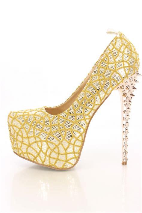 light gold heels light gold sequins glitter platform heels heel shoes