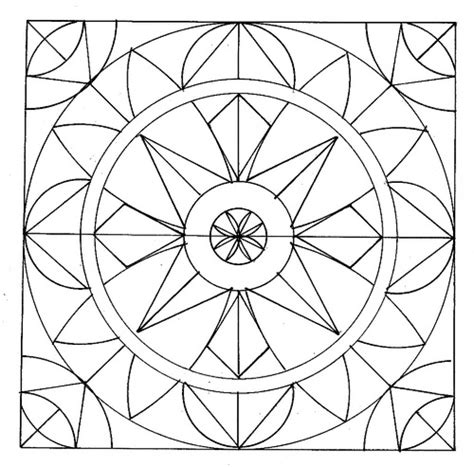 easy geometric abstract coloring page  kids fun ideas