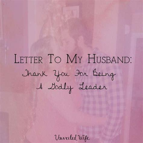 letter   husband      godly leader