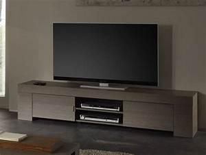 Meuble Tv Hifi : meuble tv hifi ch ne gris contemporain azura ~ Teatrodelosmanantiales.com Idées de Décoration