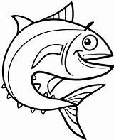 Coloring Tuna Fish Topcoloringpages sketch template