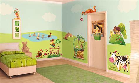 chambre à la ferme chambre bébé la joyeuse ferme leostickers