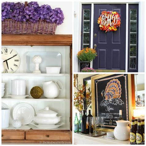better homes and gardens fall decorating pin by better