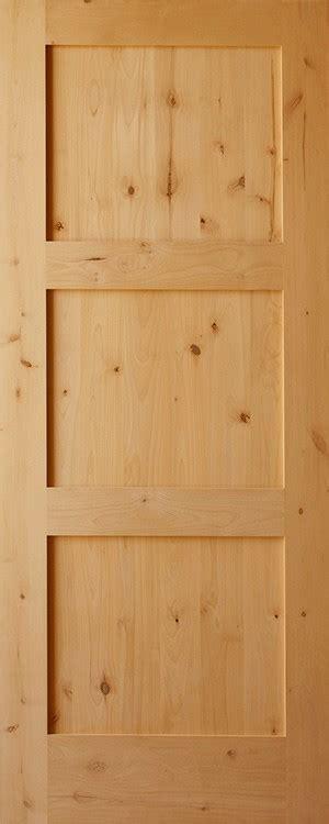 knotty alder craftsman  panel horizontal   thick