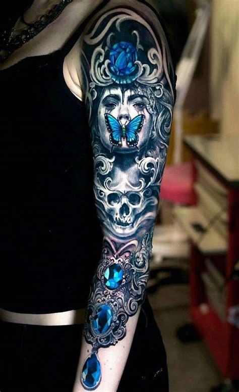 ideen und bilder zum thema totenkopf tattoo