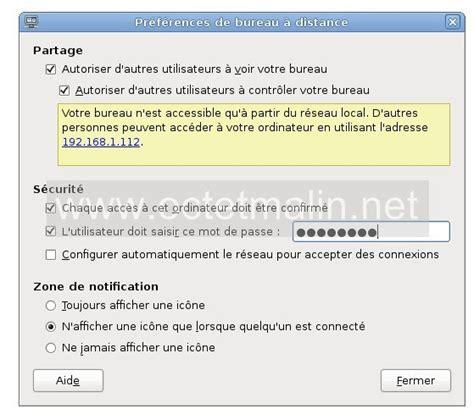 bureau a distance linux vino installer et configurer le bureau à distance sous