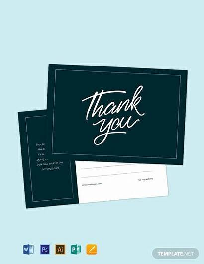 Thank Postcard Template Examples Word Postcards Illustrator