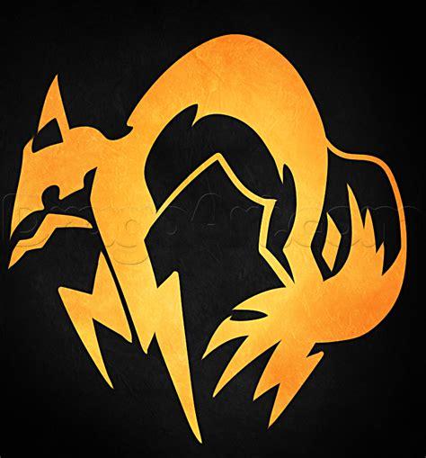 draw  foxhound logo  metal gear solid step
