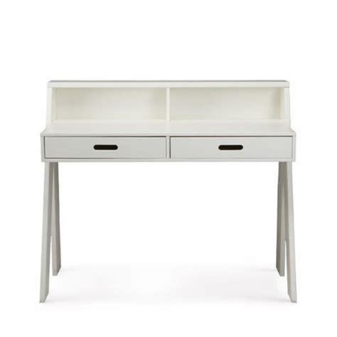 bureau bois foncé table de bureau en pin bleu ou blanc ewout