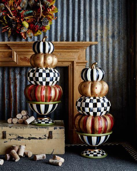 mackenzie childs entryway stacking pumpkins