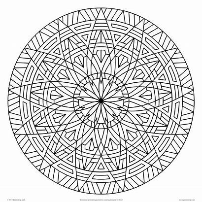 Coloring Pages Graphic Surprising Geometric Printable Designs