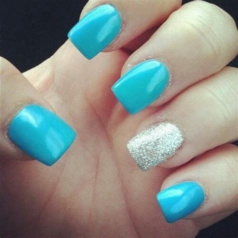 light blue nails light blue nails and sparkly hair makeup and nails