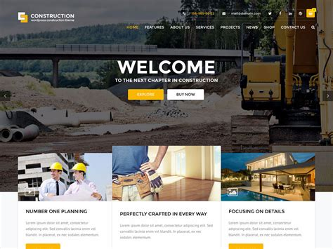 construction company wordpress themes  athemes