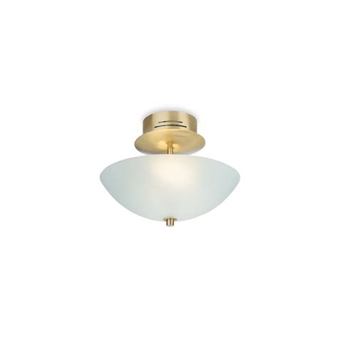 firstlight low energy brushed brass semi flush ceiling