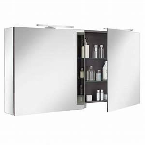 Armoire De Toilette Ice Box 120cm 2 Portes Miroir