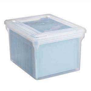 file tote clear stackable file tote box the container With document storage containers