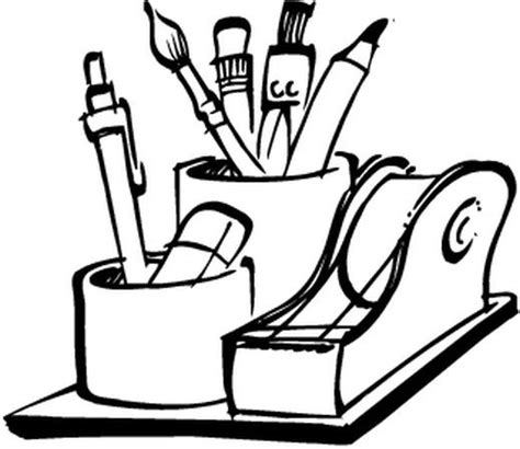 materiel de bureau coloriages materiel de bureau