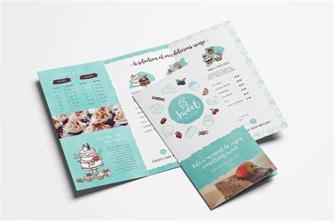 cake shop trifold brochure template brochure templates