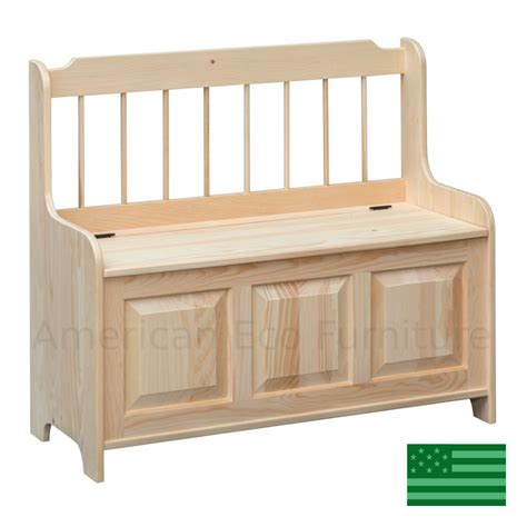 Storage Bench 40 Inches Wide by American Made Trees Benches American Eco Furniture