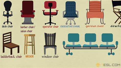 list  chair styles  types  chairs  english