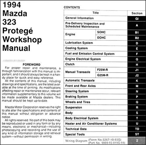manual repair free 1994 honda civic electronic toll collection 1994 mazda 323 service manual 1989 1994 mazda 323