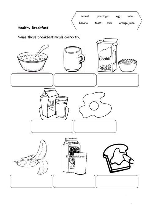 atividades de ingles cafe da manha breakfast