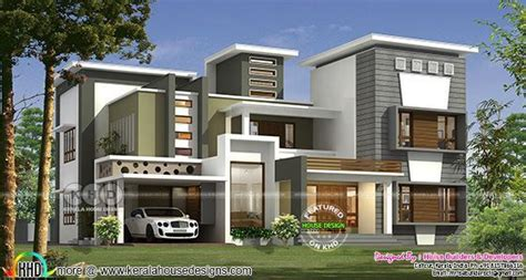 modern contemporary style  bedroom house kerala home design kerala house design house