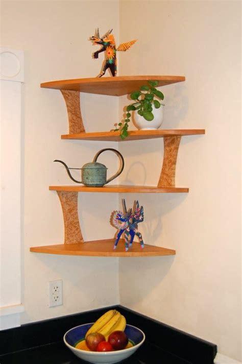 cool corner shelf designs   home wooden