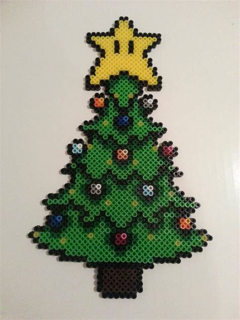 fused bead christmas tree sprite very cute perler
