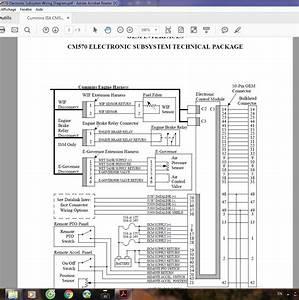 Cummins Isx Cm570 Electronic Subsytem Wiring Diagram