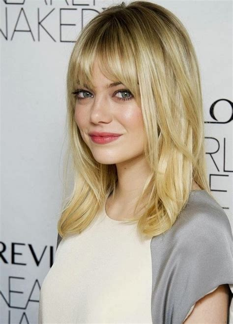 2014 medium hairstyles with bangs for fine hair popular
