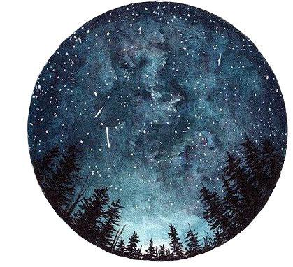 moon galaxy circle circulo tumblr