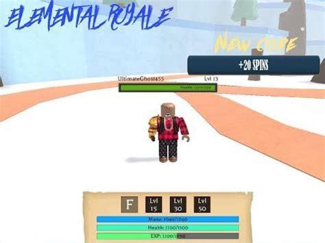 codes elemental royal roblox