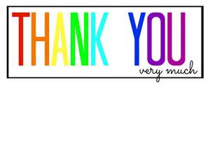 Printable Thank You Candy Bar Wrappers