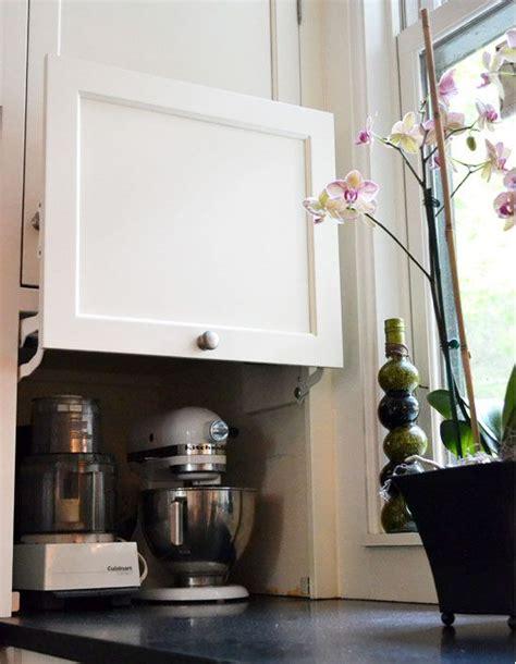 kitchen cabinet appliance storage clever kitchen organising ideas the organised