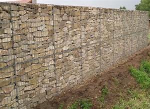 Mur En Gabion : mur de cloture en gabion ~ Premium-room.com Idées de Décoration