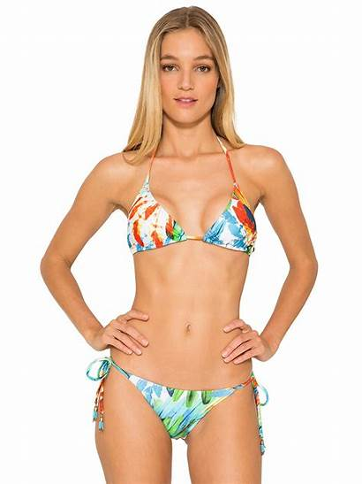 Bikini Halter Triangle Imperial Padding Feathers Removable