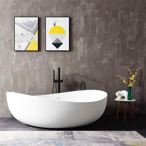 Freistehende Badewanne Die Moderne Badeinrichtungminimalistische Freistehende Badewanne by Freistehende Badewanne Aus Mineralguss Wave Wei 223