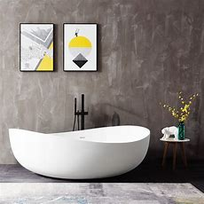 Freistehende Badewanne Aus Mineralguss Wave Stone Weiß