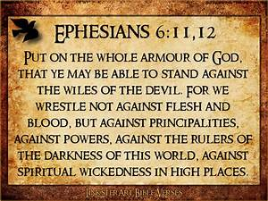 Ephesians 6:11-12 Scripture Group Pinterest