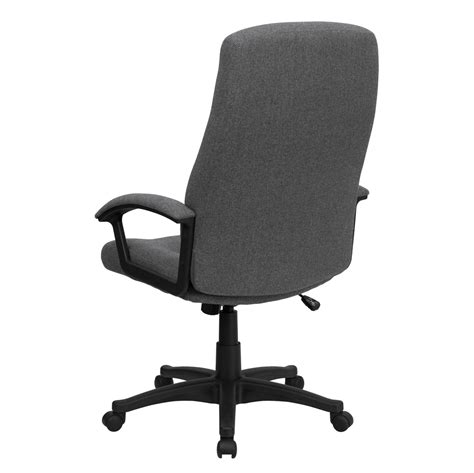 high back gray fabric executive swivel office chair bt