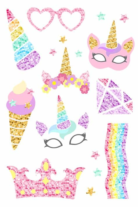 Freesvg.org offers free vector images in svg format with creative commons 0 license (public domain). Cute unicorn photo booth party props vector   Free vector ...