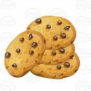 Stack Of Chocolate Chip Cookies Cartoon Clipart - Vector Toons