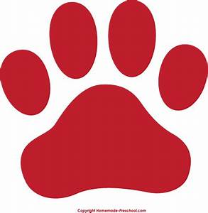 Paw prints heart clipart no background